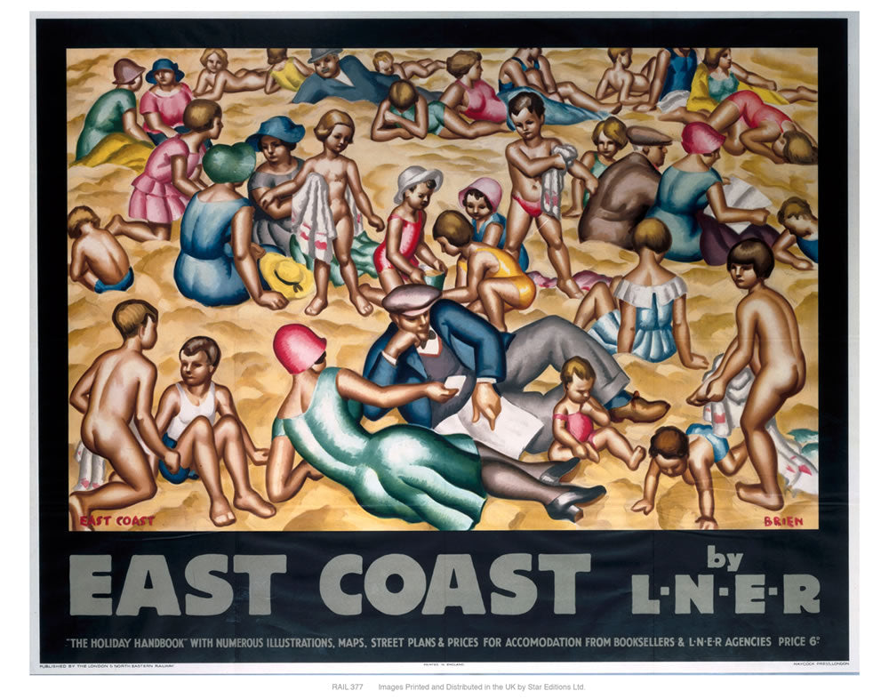 "East coast by liner 24"" x 32"" Matte Mounted Print"