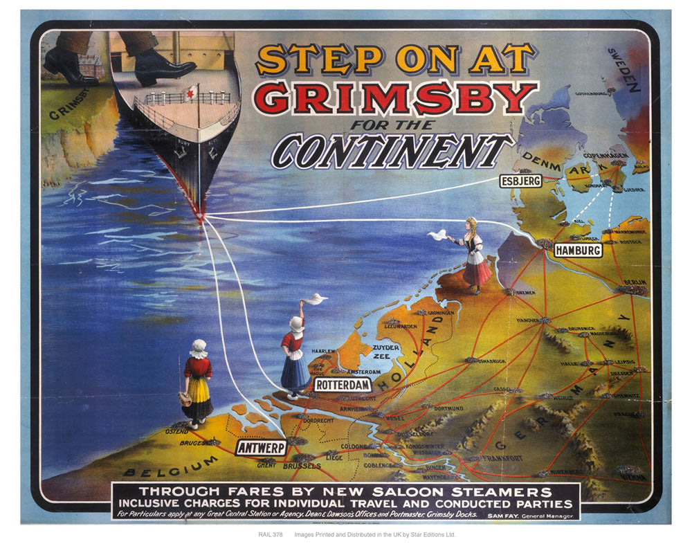 "Step on at Grimsby 24"" x 32"" Matte Mounted Print"