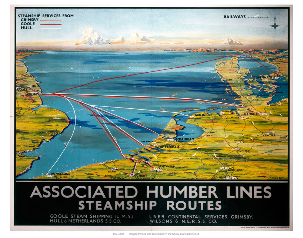 "Associated Humber lines 24"" x 32"" Matte Mounted Print"