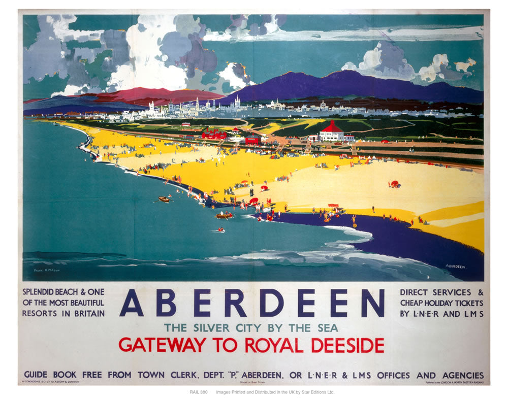 "Aberdeen by the sea 24"" x 32"" Matte Mounted Print"