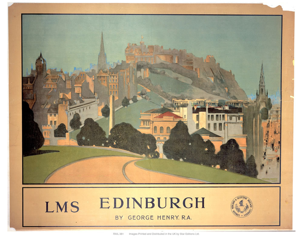 "Edinburgh LMS 24"" x 32"" Matte Mounted Print"
