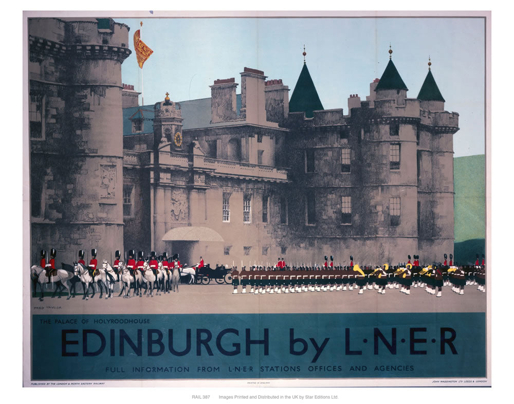 "Edinburgh by liner 24"" x 32"" Matte Mounted Print"
