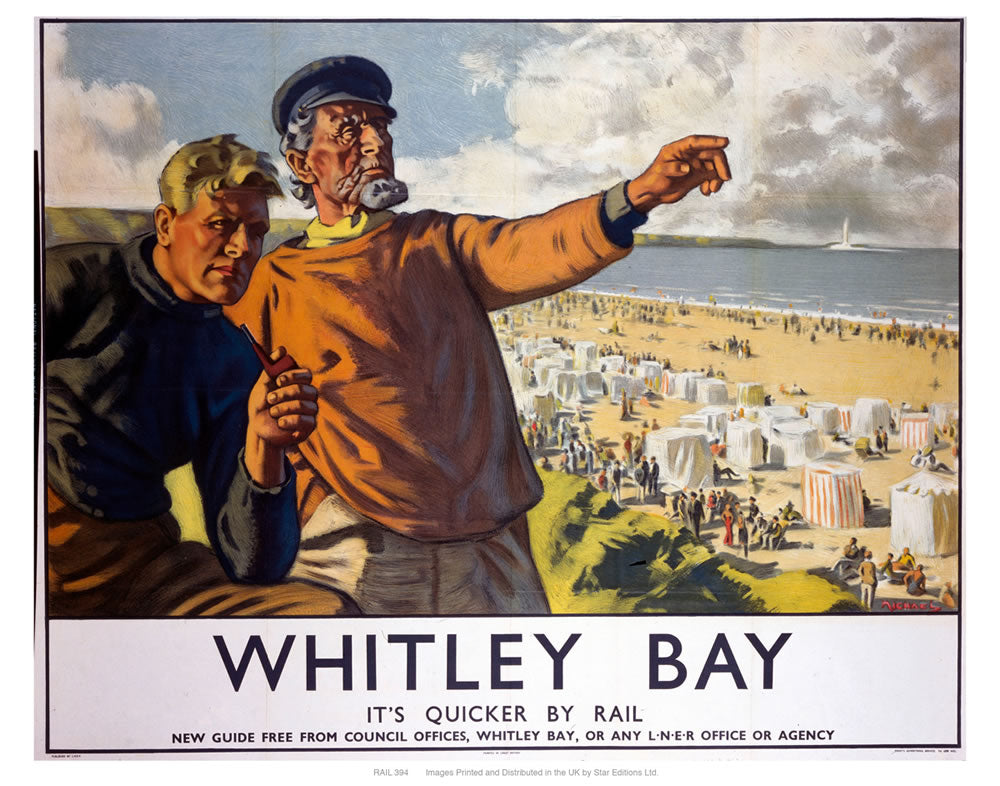 "Whitley bay 2 24"" x 32"" Matte Mounted Print"