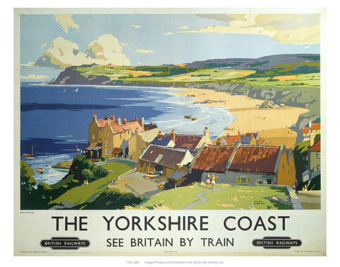 "The Yorkshire coast 2 24"" x 32"" Matte Mounted Print"