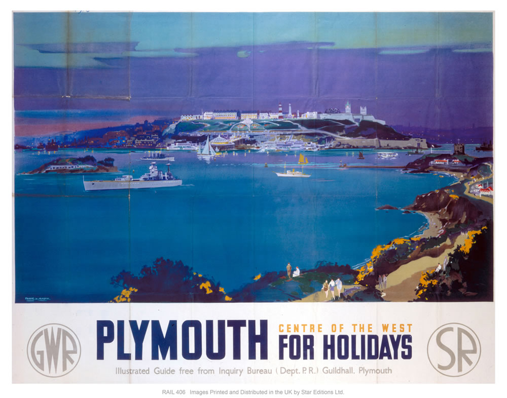 "Plymouth for holidays 24"" x 32"" Matte Mounted Print"