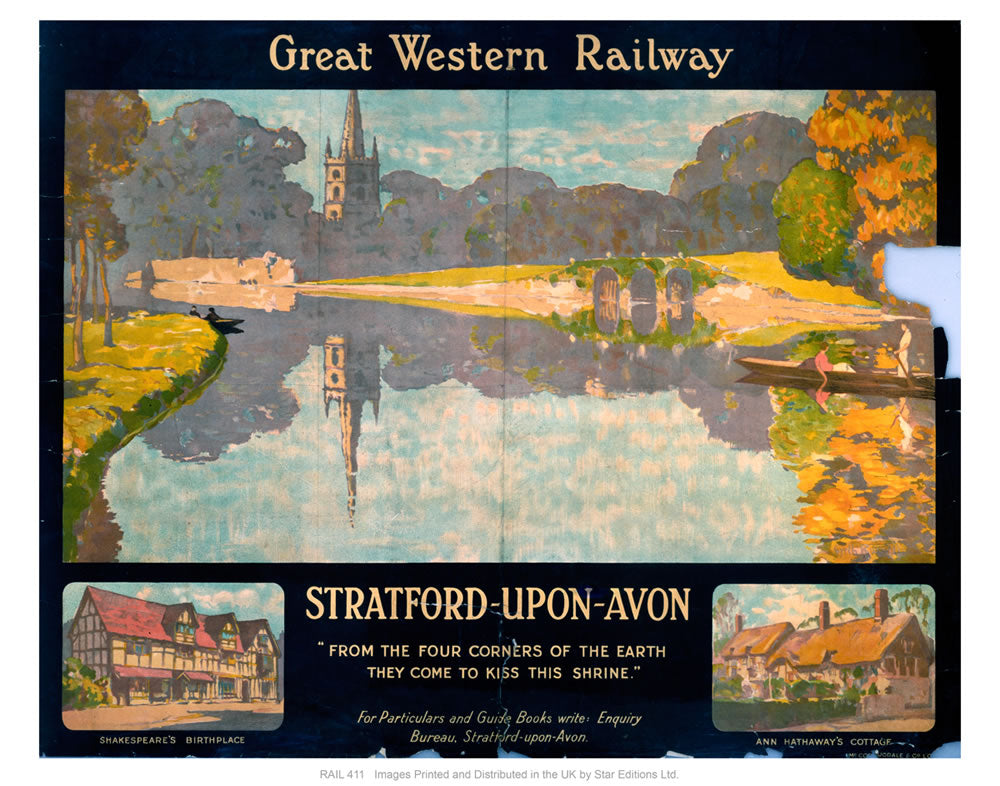 "Great western railway 24"" x 32"" Matte Mounted Print"
