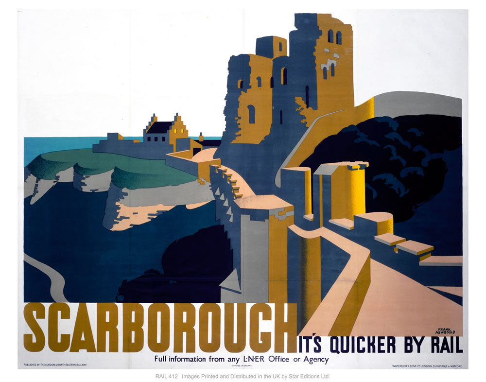 "Scarborough rails 24"" x 32"" Matte Mounted Print"