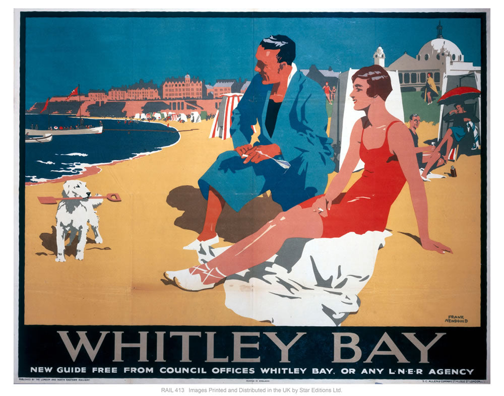 "Whitley bay 24"" x 32"" Matte Mounted Print"