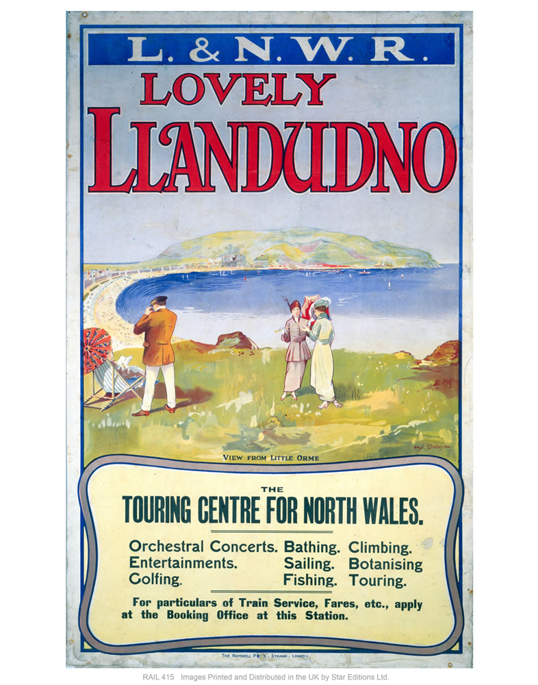 "Lovely Llandudno 24"" x 32"" Matte Mounted Print"