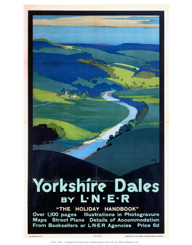 "Yorkshire dales by liner 24"" x 32"" Matte Mounted Print"