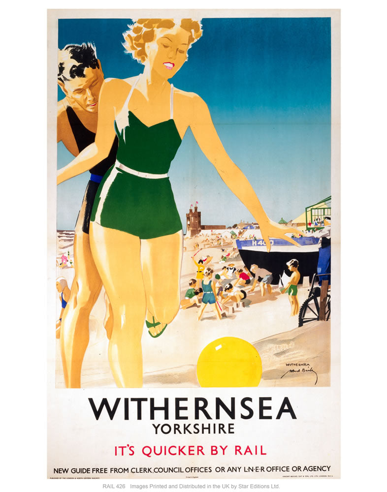 "Withernsea 24"" x 32"" Matte Mounted Print"