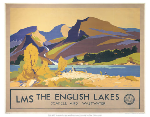 "The English lakes 24"" x 32"" Matte Mounted Print"