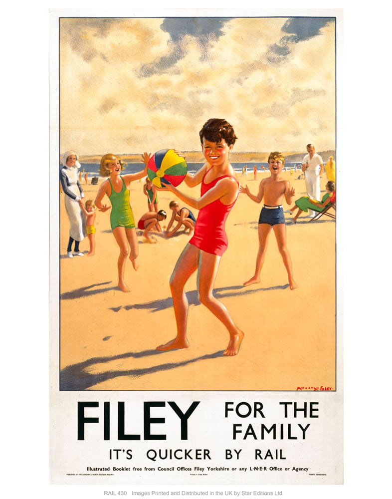 "Filey for the family 24"" x 32"" Matte Mounted Print"