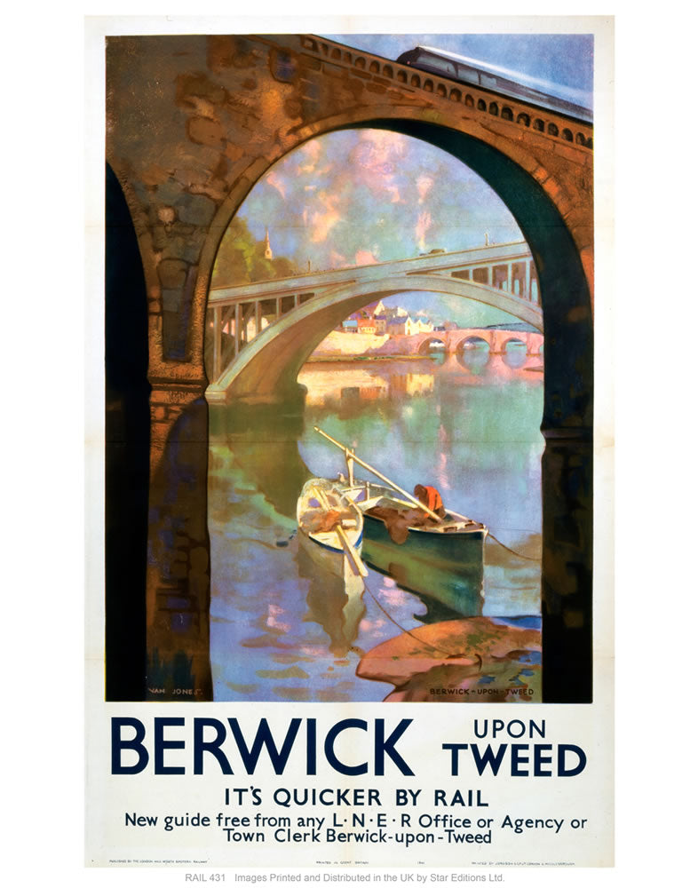 "Berwick upon tweed 24"" x 32"" Matte Mounted Print"