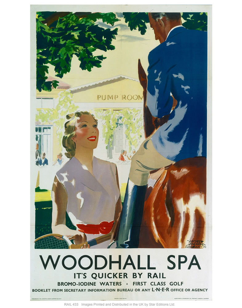 "Woodhall spa 2 24"" x 32"" Matte Mounted Print"