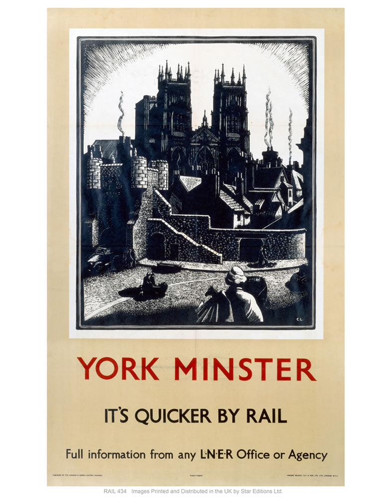 "York minster 24"" x 32"" Matte Mounted Print"