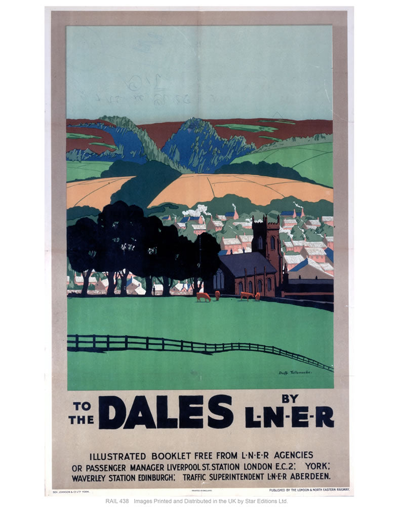 "The dales by liner 24"" x 32"" Matte Mounted Print"
