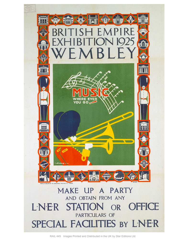 "British empire exhibition 24"" x 32"" Matte Mounted Print"