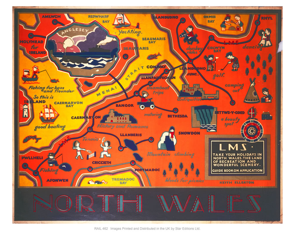"North Wales LMS 24"" x 32"" Matte Mounted Print"