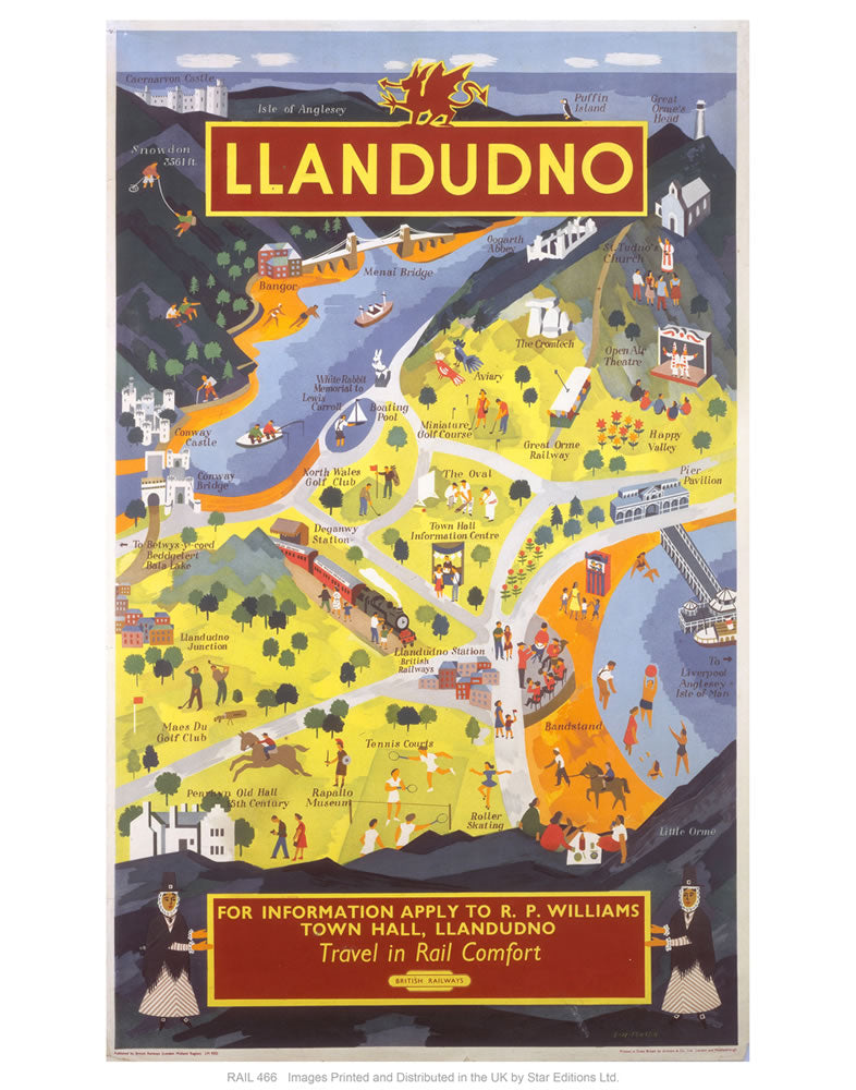 "Llandudno for information 24"" x 32"" Matte Mounted Print"