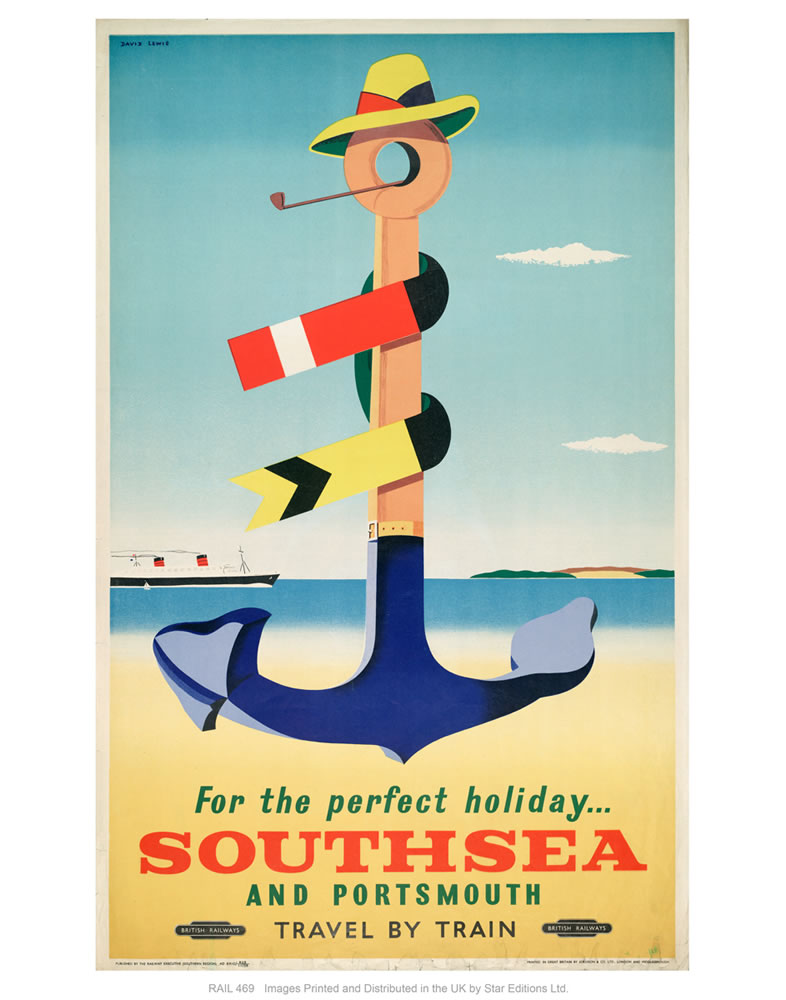 "Southsea holiday 24"" x 32"" Matte Mounted Print"