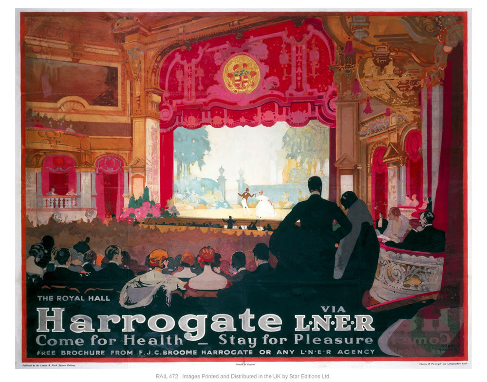 "Harrogate by liner 24"" x 32"" Matte Mounted Print"