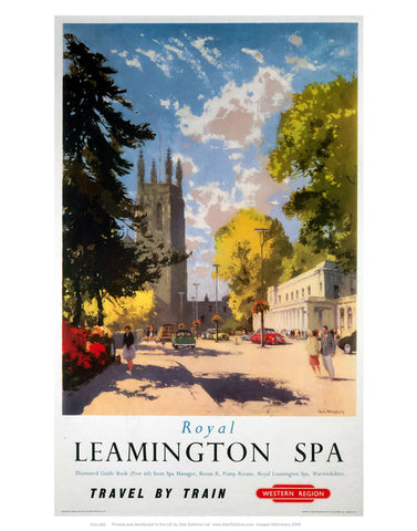 "Royal Lemmington Spa - Travel By train Western Region Poster 24"" x 32"" Matte Mounted Print"