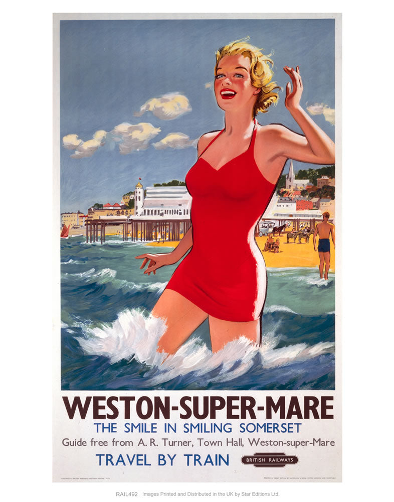 Weston-super-Mare - The smile in smiling Somerset - Girl in Red