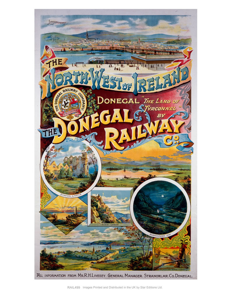 "The Donegal Railway - North West of Ireland 24"" x 32"" Matte Mounted Print"