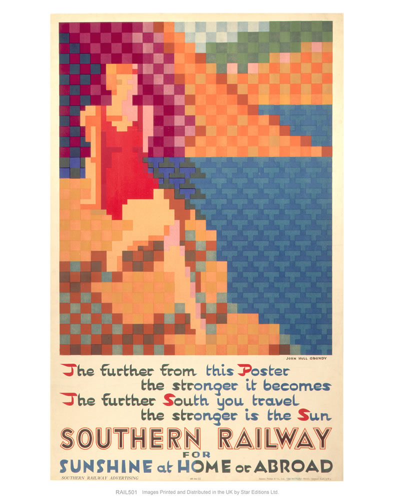 "Southern Railway for Sunshine at Home or Abroad 24"" x 32"" Matte Mounted Print"