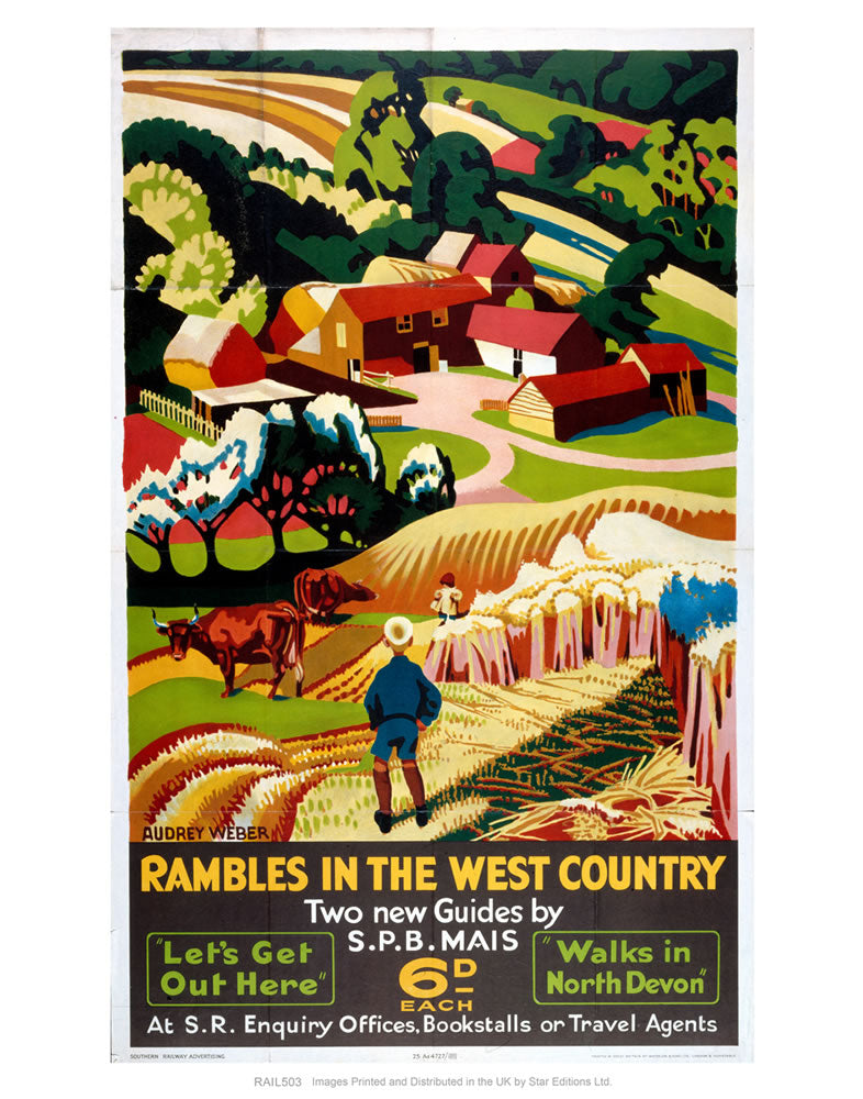 "Rambles in the West Country 24"" x 32"" Matte Mounted Print"