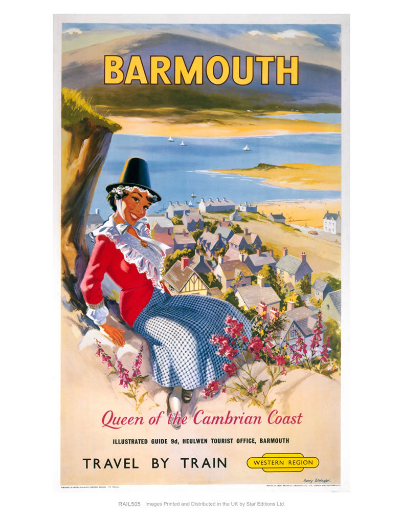 "Barmouth - Queen of the Cambrian Coast 24"" x 32"" Matte Mounted Print"