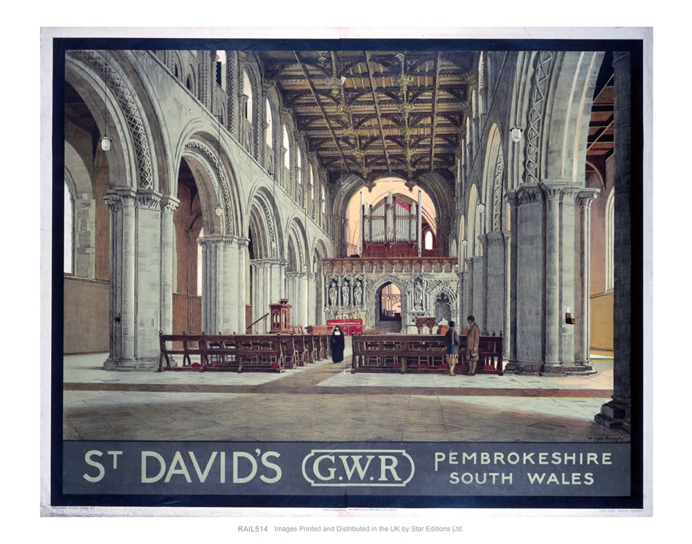 "St. David's GWR Pembrokeshire South Wales 24"" x 32"" Matte Mounted Print"