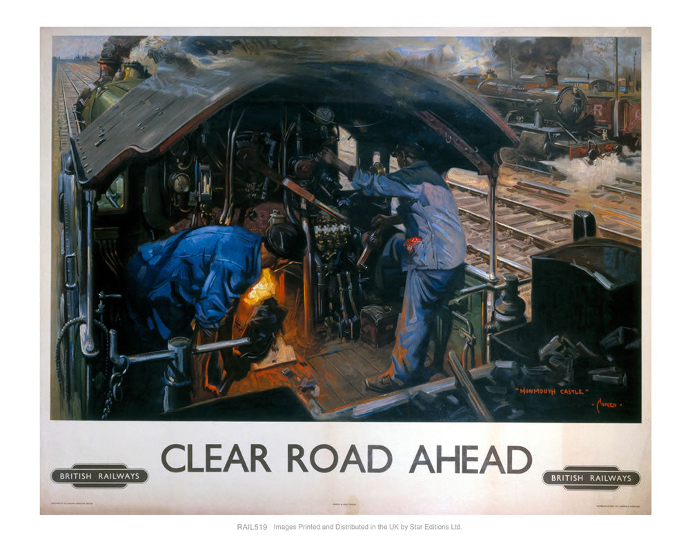 "Clear Road Ahead - Monmouth Castle 24"" x 32"" Matte Mounted Print"