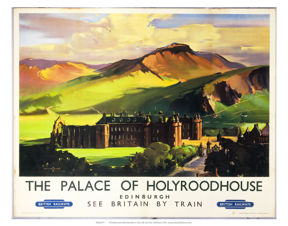 "Holyroodhouse Palace edinburgh - British Railways Poster 24"" x 32"" Matte Mounted Print"