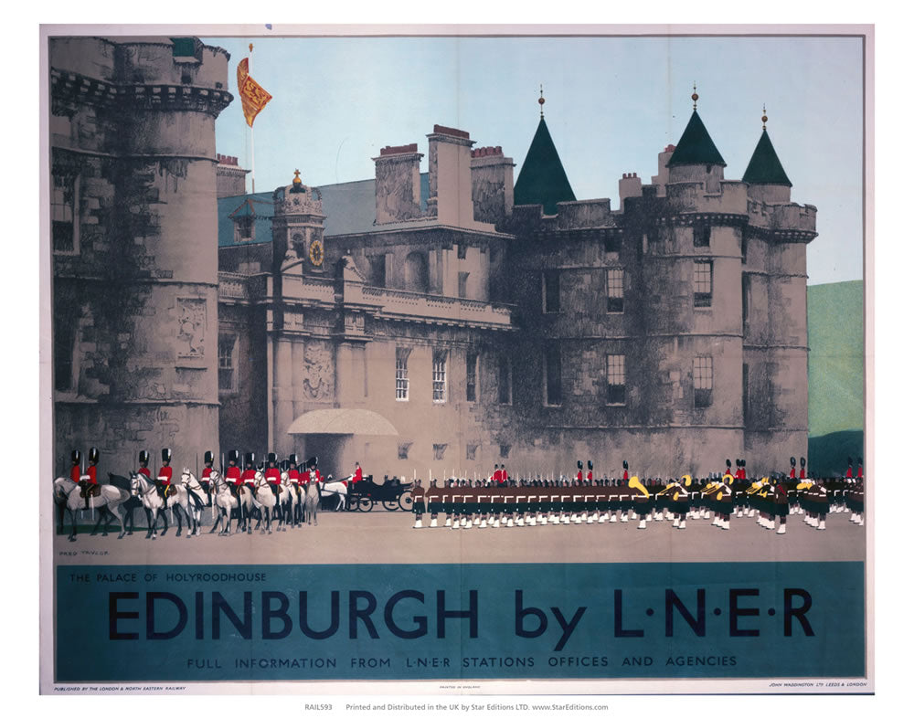 "The Palace Of Holyroodhouse - Edinburgh by LNER 24"" x 32"" Matte Mounted Print"