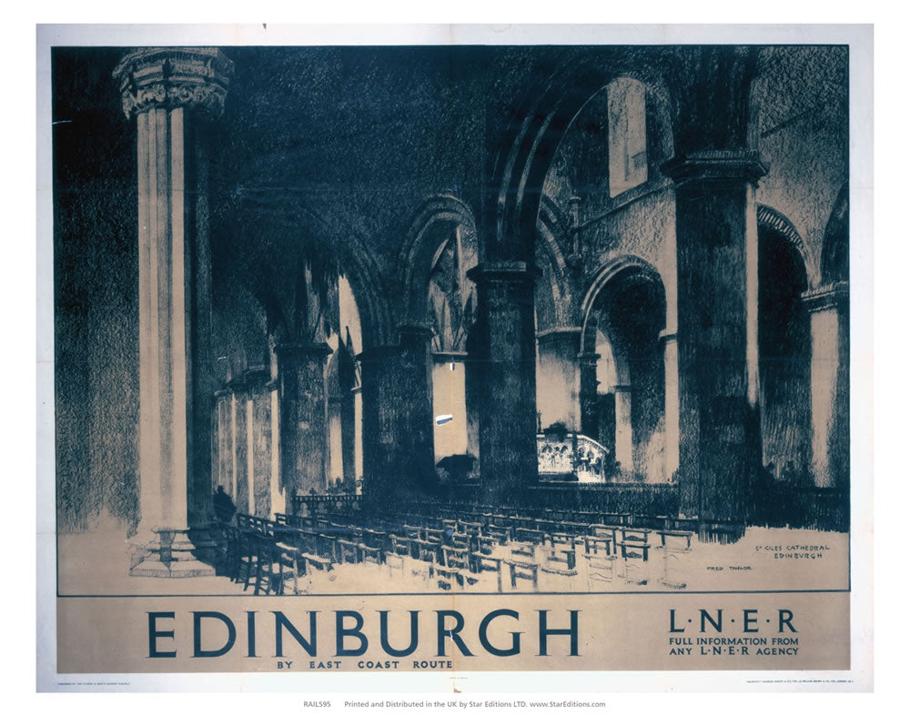 "Edinburgh by east coast - St Giles Cathedral 24"" x 32"" Matte Mounted Print"
