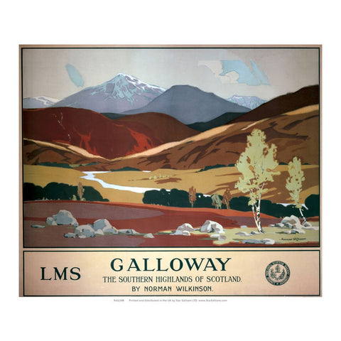 "Galloway - Southern Highlands of scotland LMS Railway 24"" x 32"" Matte Mounted Print"