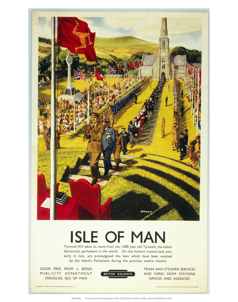 "Isle Of Mans Tynwald Hill - Ceremony 24"" x 32"" Matte Mounted Print"