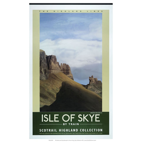 "Isle of Skye by train - Scotrail Highland Collection 24"" x 32"" Matte Mounted Print"
