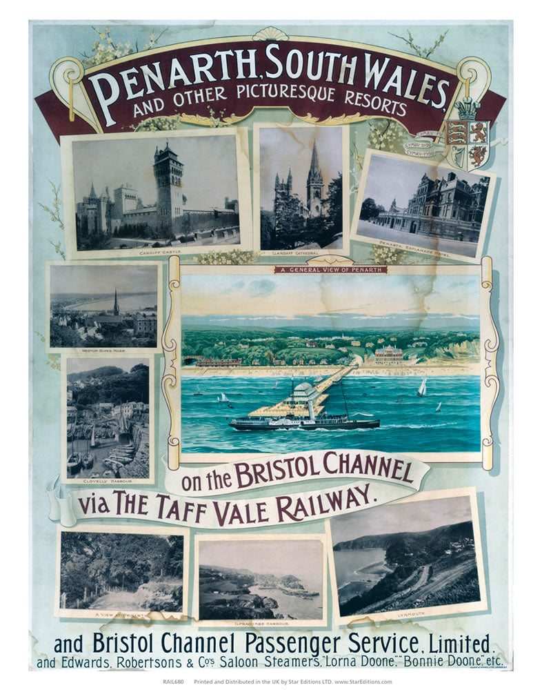 "Penarth south wale and other picturesque resorts 24"" x 32"" Matte Mounted Print"