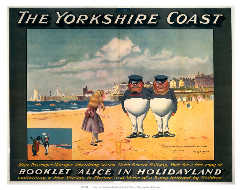 "Alice in Holidayland - The Yorkshire coast 24"" x 32"" Matte Mounted Print"