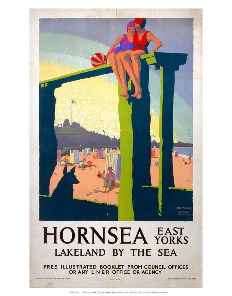 "Hornsea lakeland by the sea - East Yorks 24"" x 32"" Matte Mounted Print"