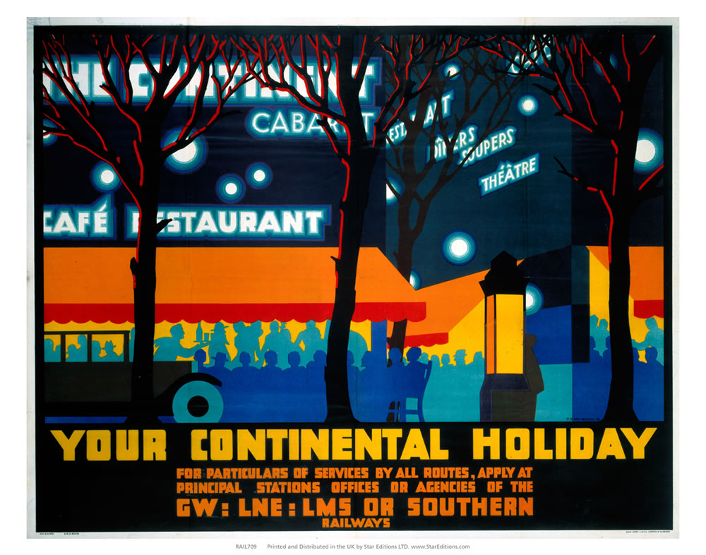 "You continental holiday - GW LNE LMS or Southern Nightlife 24"" x 32"" Matte Mounted Print"