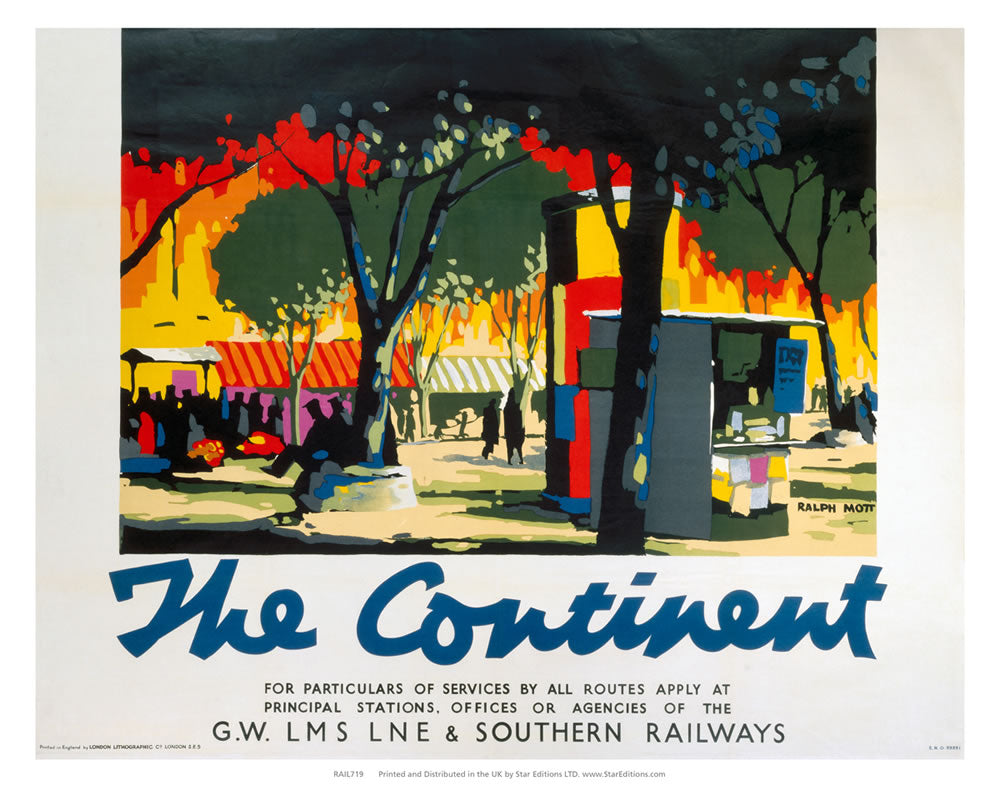 "The Continent - Ralph nott painting 24"" x 32"" Matte Mounted Print"