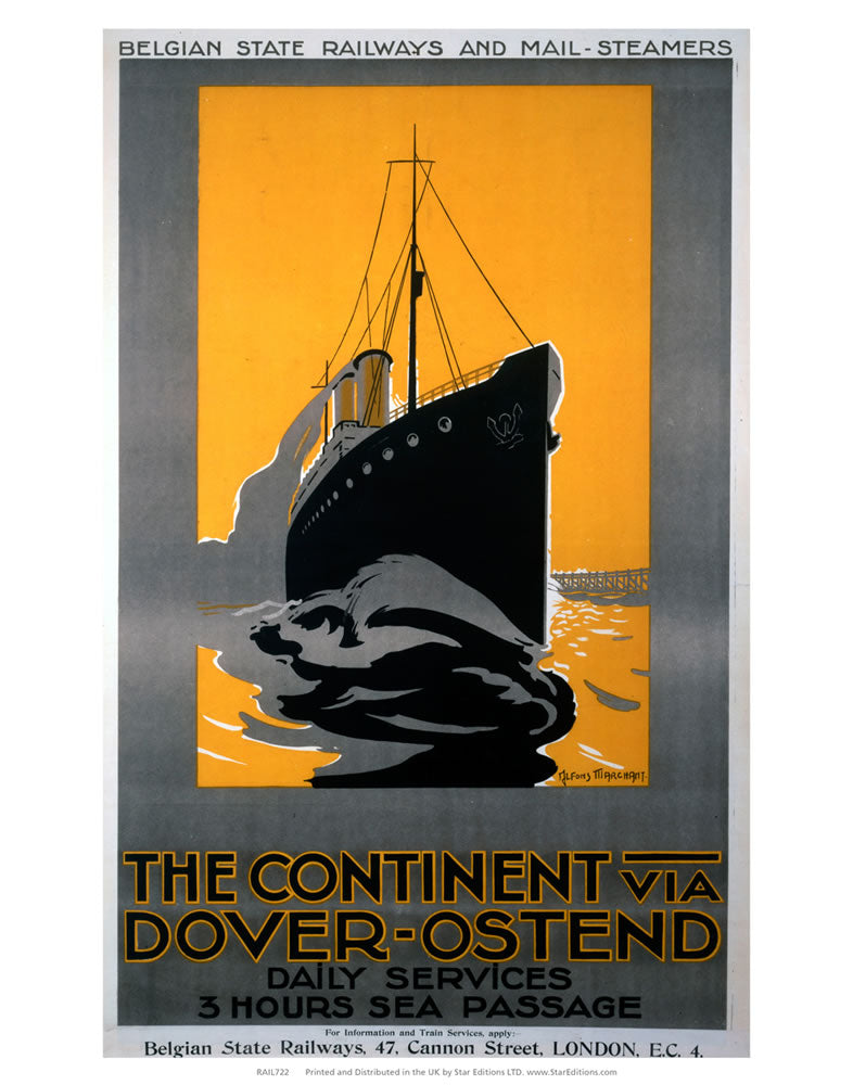 "Dover-ostend - the continent 3 hour passage 24"" x 32"" Matte Mounted Print"