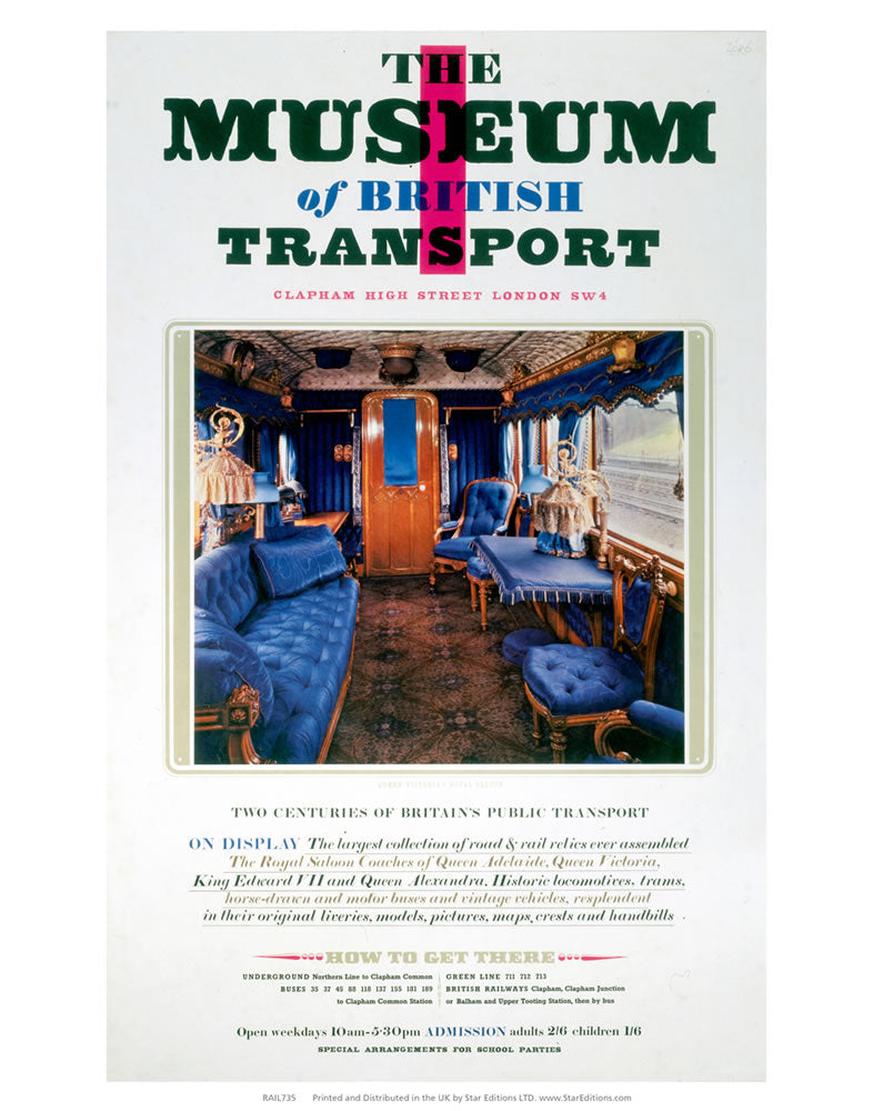 "The Museum of British Transport - Clapham High steer Royal Carriae 24"" x 32"" Matte Mounted Print"