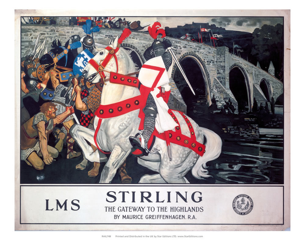 "Stirling - Gateway to the highlands LMS 24"" x 32"" Matte Mounted Print"