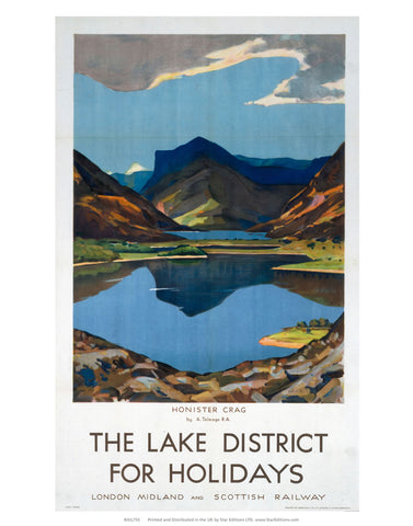 "The Lake district for Holidays - Honister Crag 24"" x 32"" Matte Mounted Print"