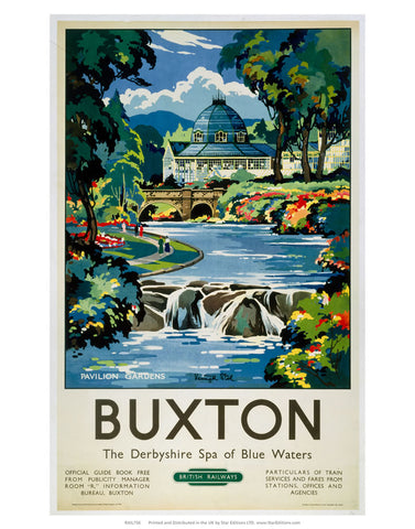 "Buxton - The derbyshire spa of Blue waters 24"" x 32"" Matte Mounted Print"